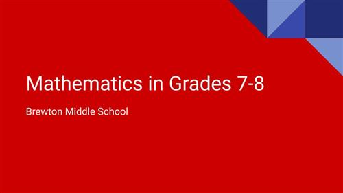 Mathematics in Grades 7-8